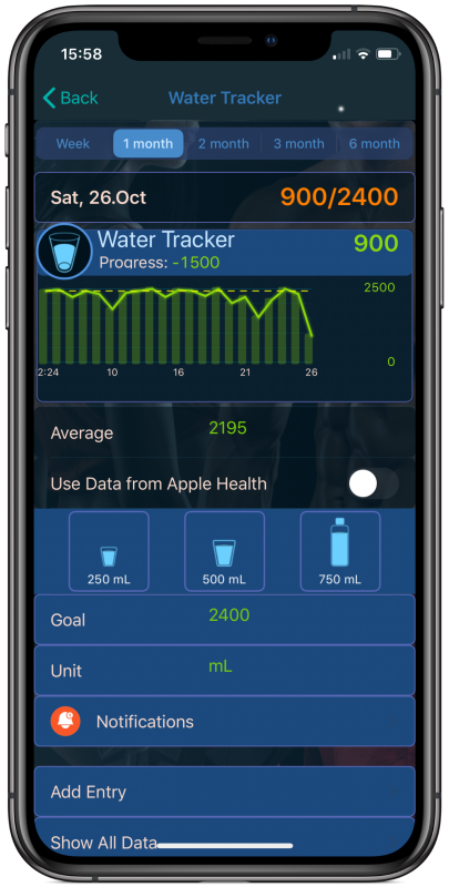 Track Your Daily Water Intake​