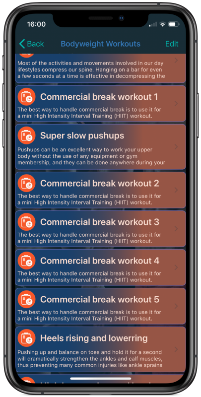 Commercial Break Workouts​