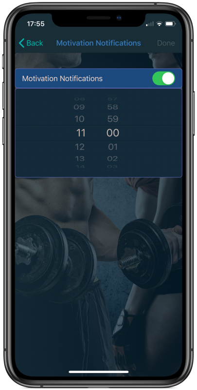 Set a Reminder on your Fitolog​